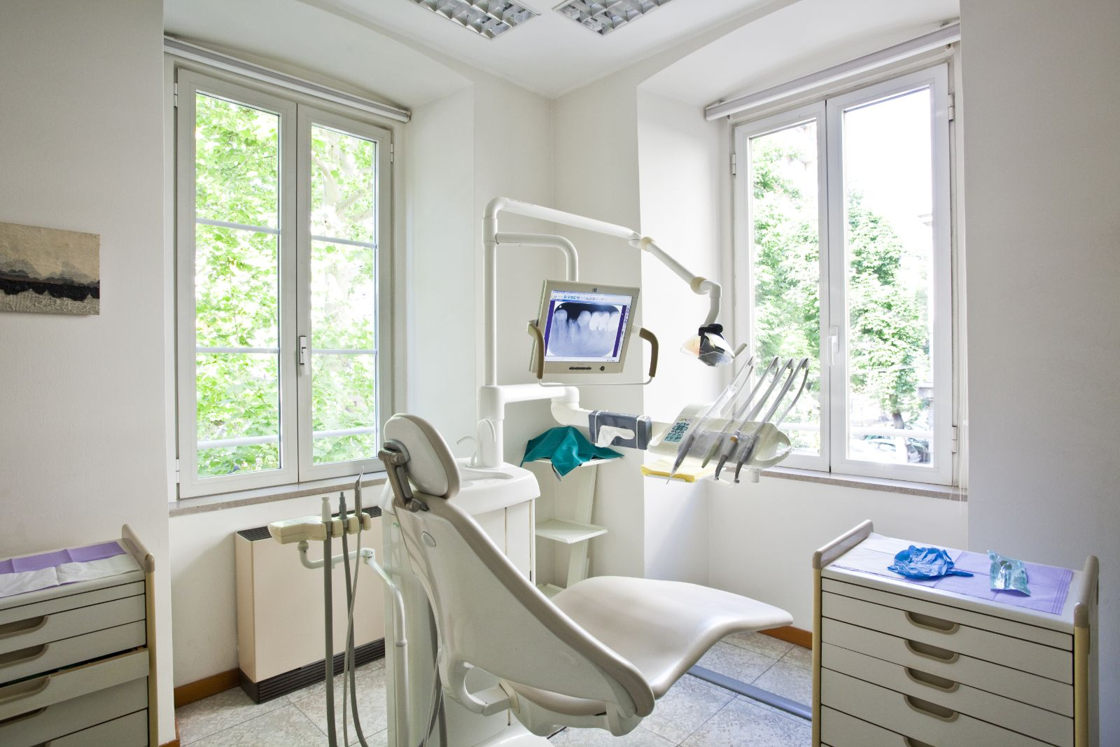 dental office with modern equipment