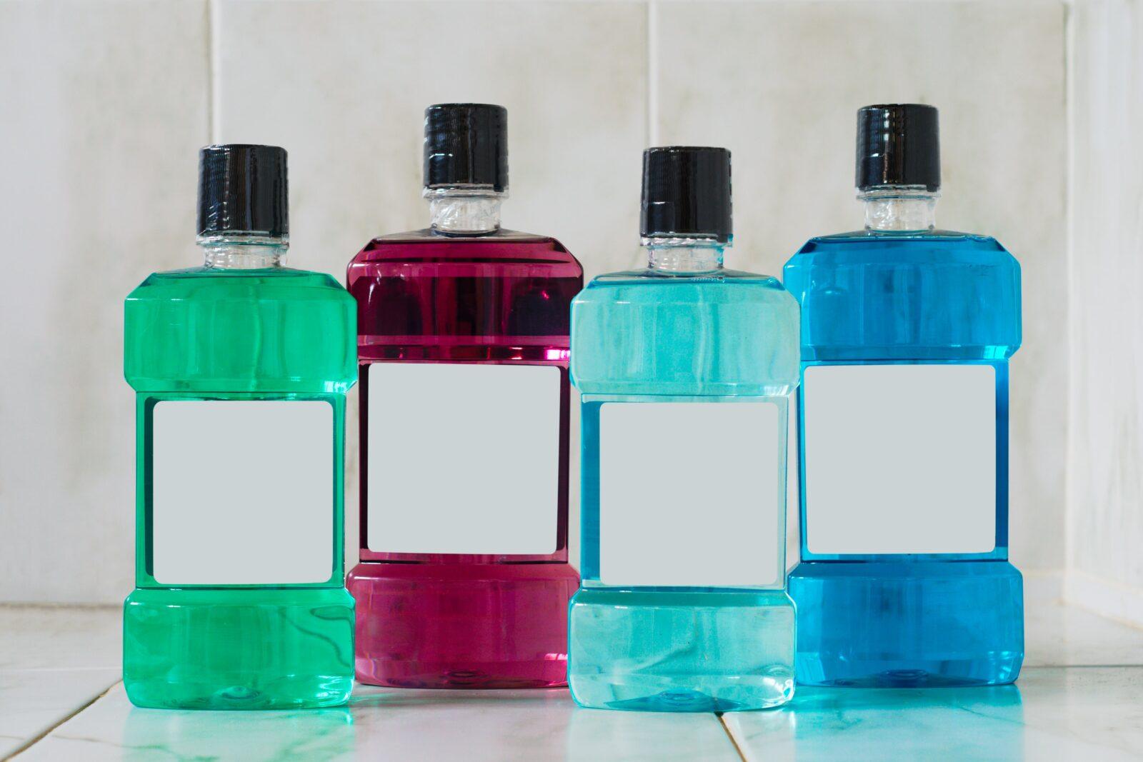 bottles of mouthwash