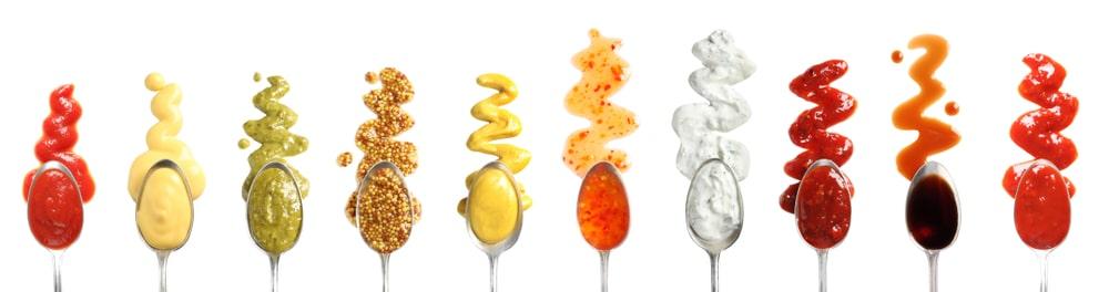 colored condiments